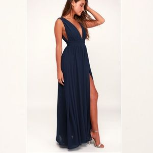 Lulu's Heavenly Hues Maxi Bridesmaids Dress